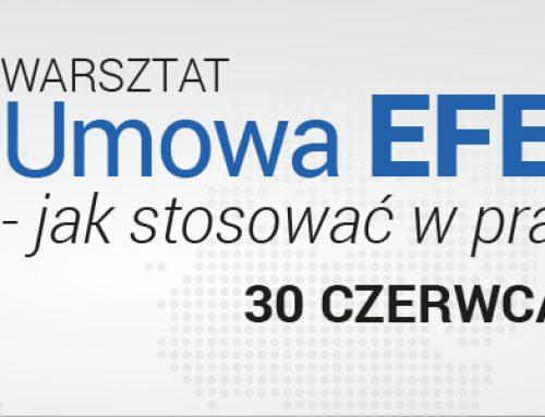 Umowa EFET GAS – jak stosować w praktyce. Warsztat – 30.06.2015