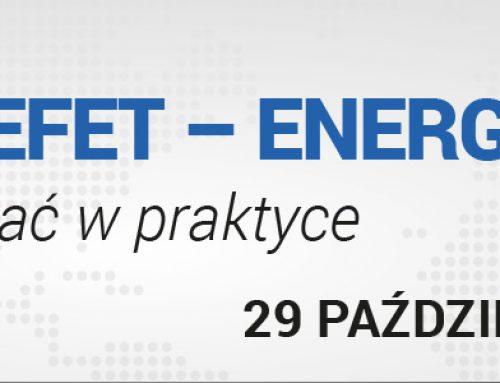 Warsztat Umowa EFET – ENERGIA I GAZ – jak stosować w praktyce. 29.10.2015