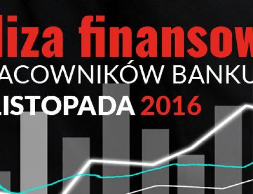 Analiza Finansowa Dla Pracowników Banku. 29-30.11.2016