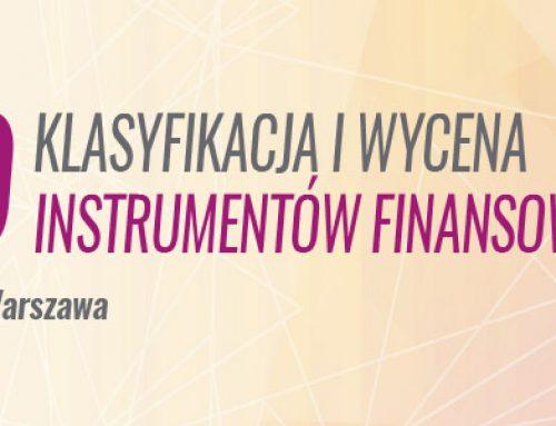 MSSF 9  – klasyfikacja i wycena instrumentów finansowych -11.12.2018