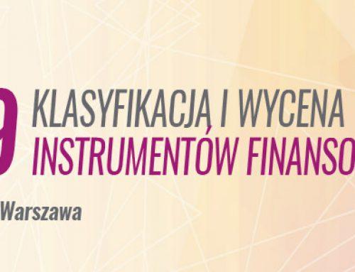 MSSF 9  – klasyfikacja i wycena instrumentów finansowych -11.04.2019