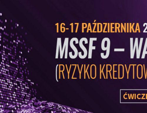 MSSF 9 – warsztaty (ryzyko kredytowe – impairment).  16-17.10.2019