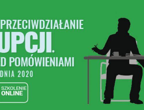 IDENTYFIKACJA I PRZECIWDZIAŁANIE KORUPCJI. OCHRONA PRZED POMÓWIENIAMI -18.12.2020