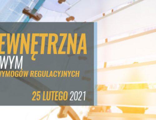 Kontrola wewnętrzna w sektorze finansowym z uwzględnieniem aktualnych wymogów regulacyjnych i standardów nadzorczych. 25.02.2021