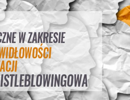 Warsztaty praktyczne w zakresie zgłaszania nieprawidłowości wewnątrz organizacji – procedura whistleblowingowa. 15.10.2021